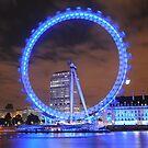 London Eye at Night by brodien