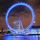 London Eye at Night by brodien