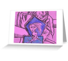 outwe space blues Greeting Card