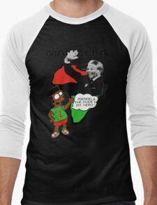 Bootleg Bart Simpson - Nelson Mandela Men's Baseball ¾ T-Shirt