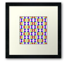 Colored clapping hearts Framed Print