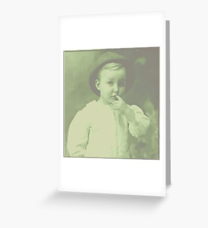 Young Bowler Greeting Card