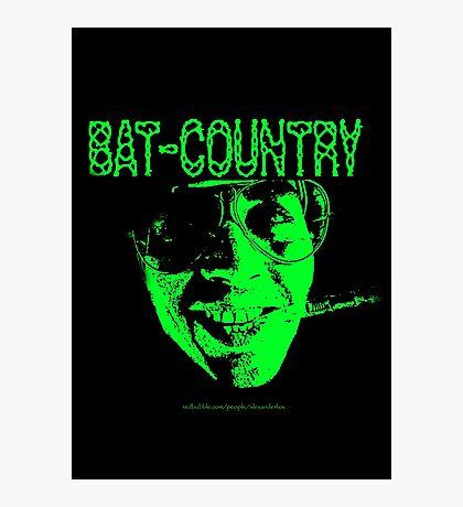 Bat Country MonoTone Photographic Print