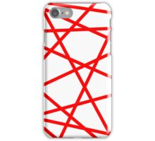 Red Straight Lines Web iPhone Case/Skin