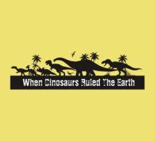 Dinosaur Silhouettes  Kids Tee