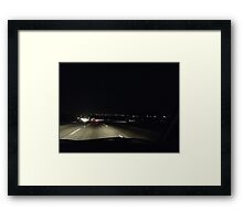 Nighttime, My Time Framed Print