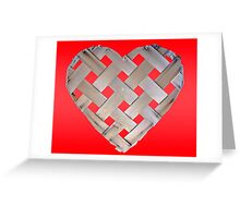 Checkered Heart Greeting Card
