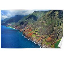 Na Pali Coast in Kauai, Hawaii Poster