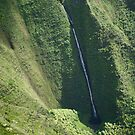 Waterfall in Kauai - Seen from the air by kcy011