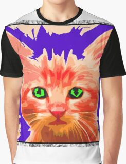 Orange Kitty Graphic T-Shirt