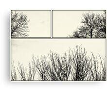 Tree Tops mono Canvas Print