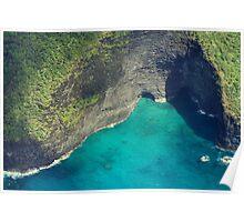 Sea Caves - Na Pali Coast Poster