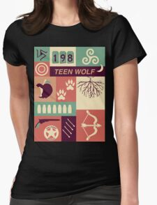 Teen Wolf Poster Womens Fitted T-Shirt