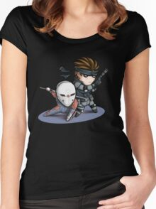 MGS1: Fox and Snake Women's Fitted Scoop T-Shirt