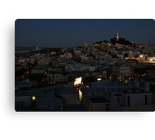 Here Comes the Night ~ Coit Tower Canvas Print