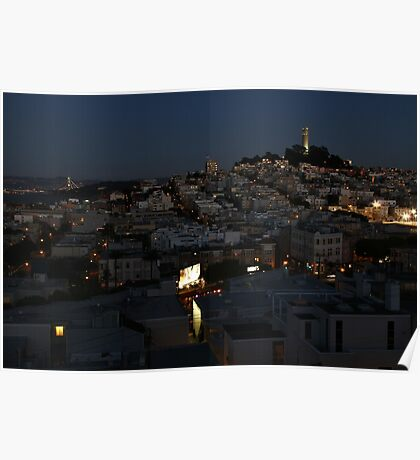Here Comes the Night ~ Coit Tower Poster