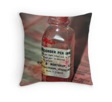 Red Ink Throw Pillow