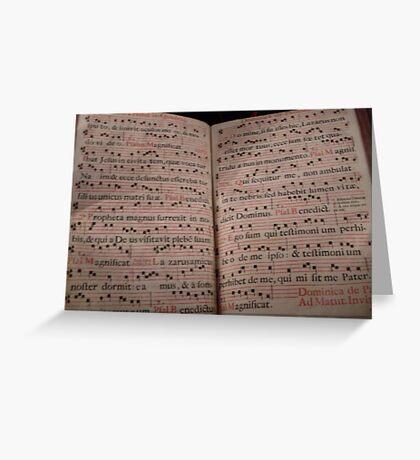 Medieval Sheet Music Greeting Card