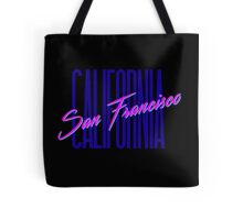 Retro 80s San Francisco, California Tote Bag