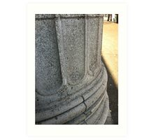 This column is watching. Art Print