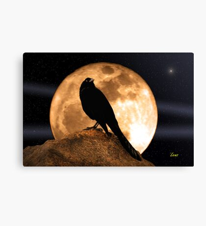 Crow In The Moon Canvas Print