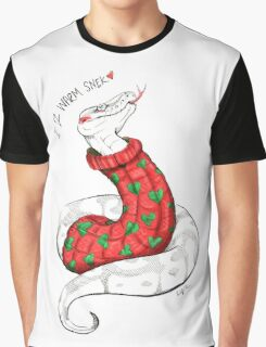 Warm Christmas Snek Graphic T-Shirt