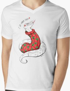 Warm Christmas Snek Mens V-Neck T-Shirt