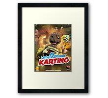 LittleBigPlanet Karting Burn Rubber Framed Print