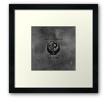 Brotherhood Of Steel Logo Framed Print