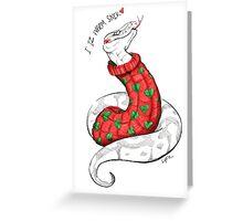 Warm Christmas Snek Greeting Card