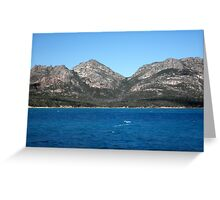 The Hazards, Freycinet, Tasmania, Australia. Greeting Card