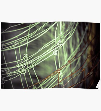 Fenced Canvas Poster