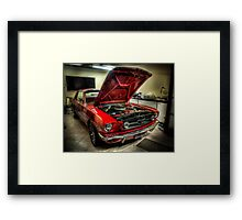 The Beast at Home Framed Print