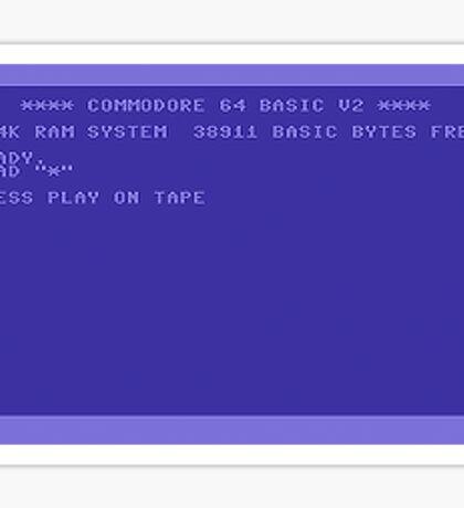 Commodore Screen Sticker