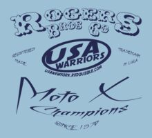 usa warriors moto X by rogers bros T-Shirt