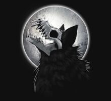 Skull Wolf Howl by digimitsu