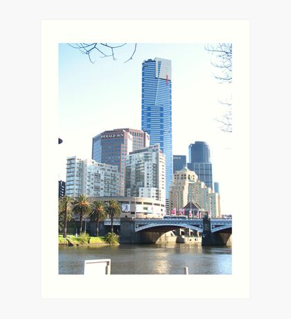 Condensed Melbourne Art Print