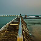 Photographer at Work.  Merewether Ocean Baths by bazcelt