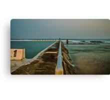 Photographer at Work.  Merewether Ocean Baths Canvas Print