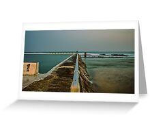 Photographer at Work.  Merewether Ocean Baths Greeting Card