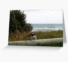 Goose Step Beach Bird Greeting Card