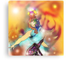 Flame Girl 1 Metal Print