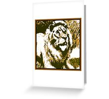 Strong Roar Greeting Card