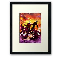 The Rocket Ranger and Red World of Death! Framed Print