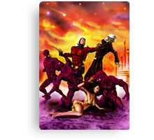 The Rocket Ranger and Red World of Death! Canvas Print