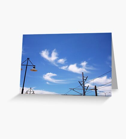 Claremont Station Wires - 13 11 12 Greeting Card