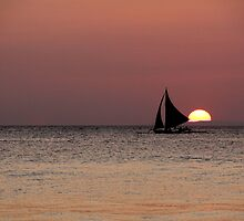 sailing at sunset by lensbaby