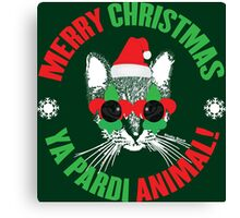 Merry Christmas Ya Pardi Animal Canvas Print