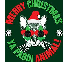 Merry Christmas Ya Pardi Animal Photographic Print