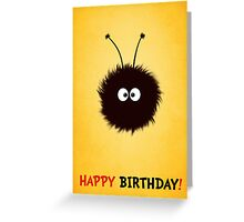 Cute Dazzled Bug Birthday Card Greeting Card